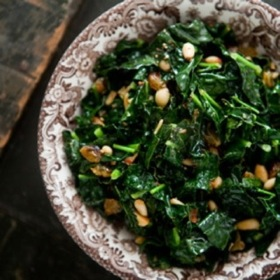 Greens with Cashews