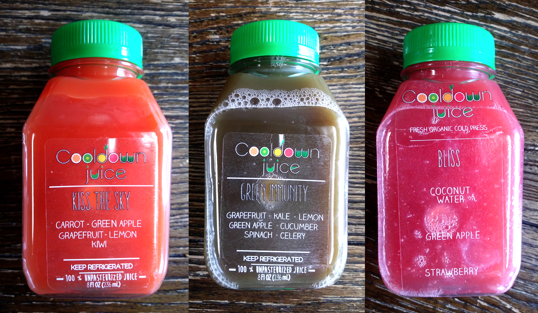 Sample shares from Cooldown Juice.